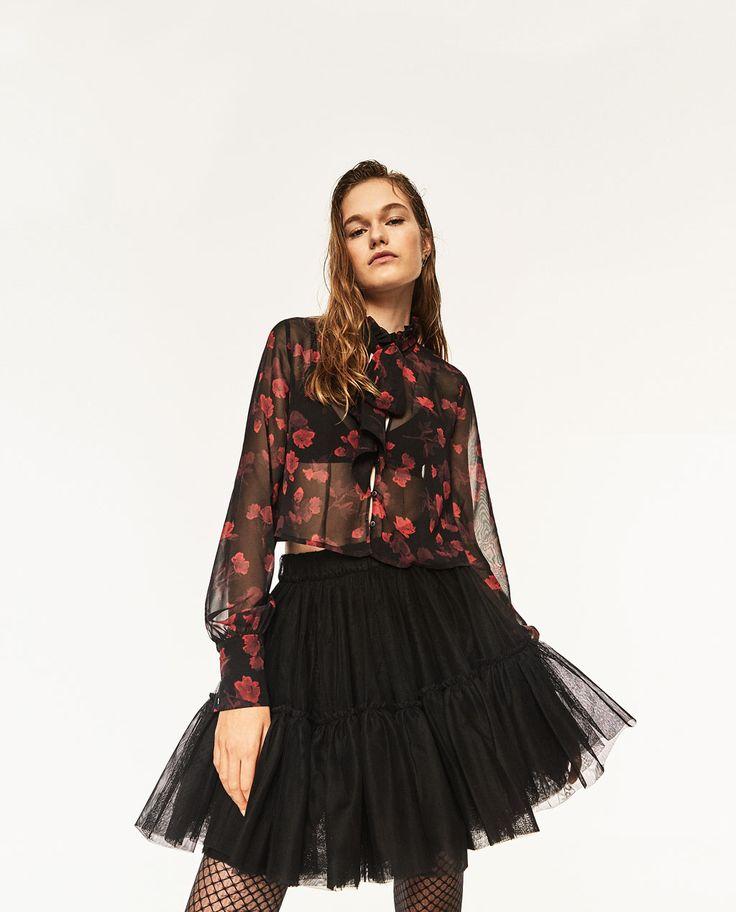 Image 2 of TULLE MINI SKIRT from Zara