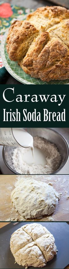 We love this traditional Irish soda bread with caraway seeds! So easy to make. Perfect for St. Patrick's Day. No mixer needed! On SimplyRecipes.com