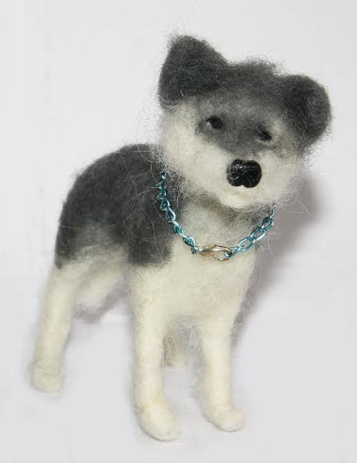 sweet Dog  needle felted miniature beautiful animal toys  handmade #10 #nutka_art #AllOccasion