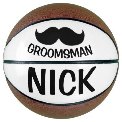 Mustache Wedding Favors Personalized Basketball - bride gifts bridal ideas unique personalize