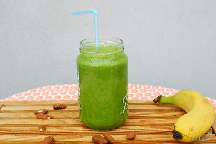 groene energie smoothie amandel banaan