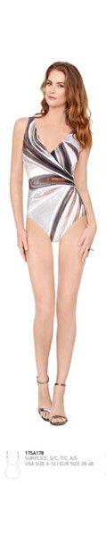 Gottex ~ Silver Agate Surplice Swimsuit