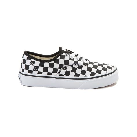 ad9edda29e39d9 Youth Vans Authentic Chex Skate Shoe - black - 1498179