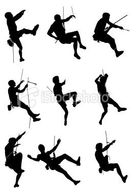 Extreme sport rock climbing Royalty Free Stock Vector Art Illustration