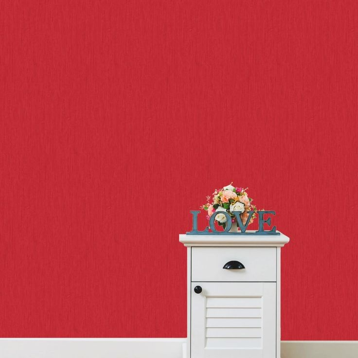 Love Your Walls Red Shimmer Plain Wallpaper E95110