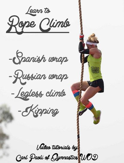 Learn to rope climb with Carl Paoli -CrossFit coach & founder of gymnastics WOD. Video tutorials, progressions, and technique