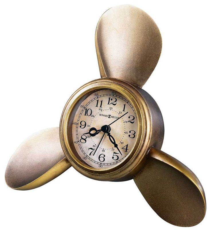 Propeller Alarm Mantel Clock by Howard Miller - Alarm Clocks