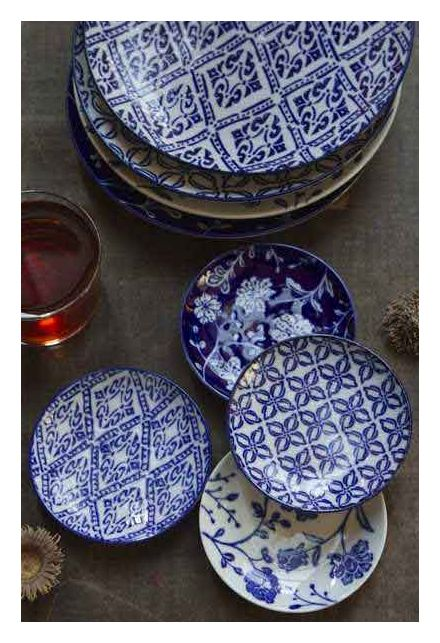 Hand-Painted Blue and White Ceramic Plates | SHOP NECTAR: Home of fair trade and unique gifts, teas, architectural details, reclaimed and cu...