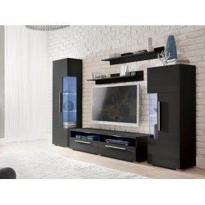 meblocianka coco czarny poysk - Meuble Tv Design Ibiza A Led