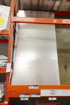 Home Depot  Foil sound barrier styrofoam panels