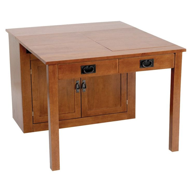 Meco Shaker Mission Style Expanding Cabinet Dining Set - Fruitwood - Kitchen & Dining Table Sets at Hayneedle