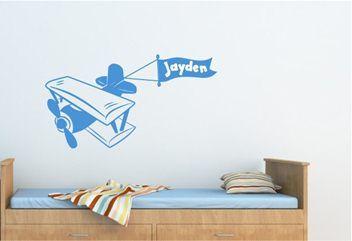Kids Personalised Decal - Bi-Plane