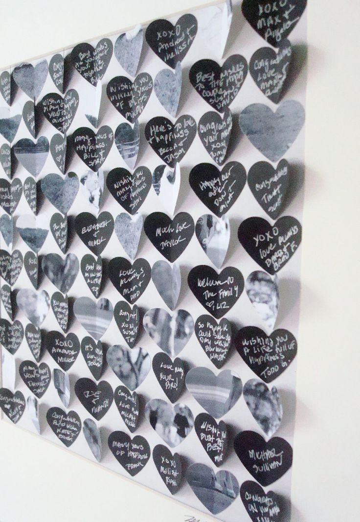Photo Guest book Frame: black and white wedding 3D Heart guestbook alternative / Unique wedding gift or Bridal Shower gift by CeladonHome on Etsy https://www.etsy.com/listing/86580866/photo-guest-book-frame-black-and-white