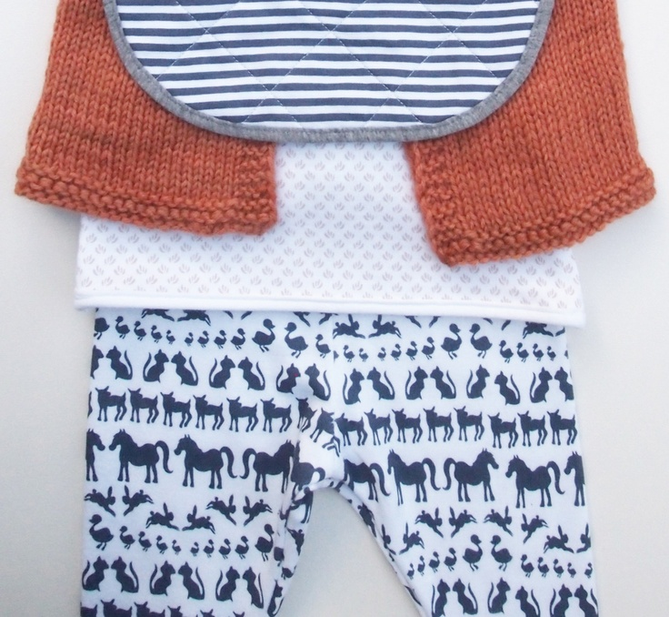 Hand Screen Printed Unisex Baby Footless Legging in Organic Cotton