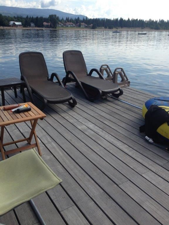 A 5 Year Old Dock. What a beautiful to spend the summer, made of our unique Yellow Balau.  Supplied by Kayu Canada Inc. #summer #dock #lake