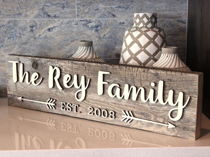 Reclaimed Wood Family Sign   Easy Reclaimed Wood Sign DIY   CraftCuts.com    Wood Letters   Pinterest - Reclaimed Wood Family Sign Easy Reclaimed Wood Sign DIY