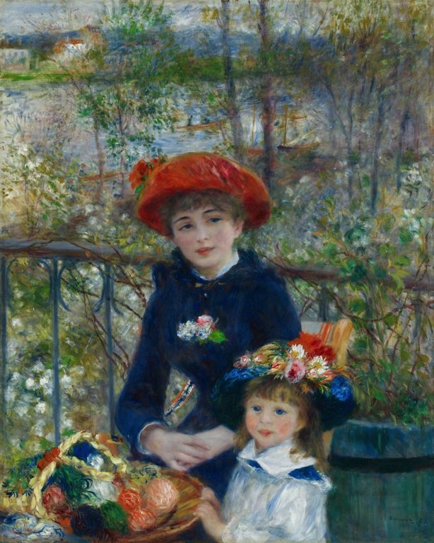 Pierre-Auguste Renoir, French, 1841-1919, Two Sisters (On the Terrace), 1881, Oil on canvas, 39 9/16 x 37 7/8 in.