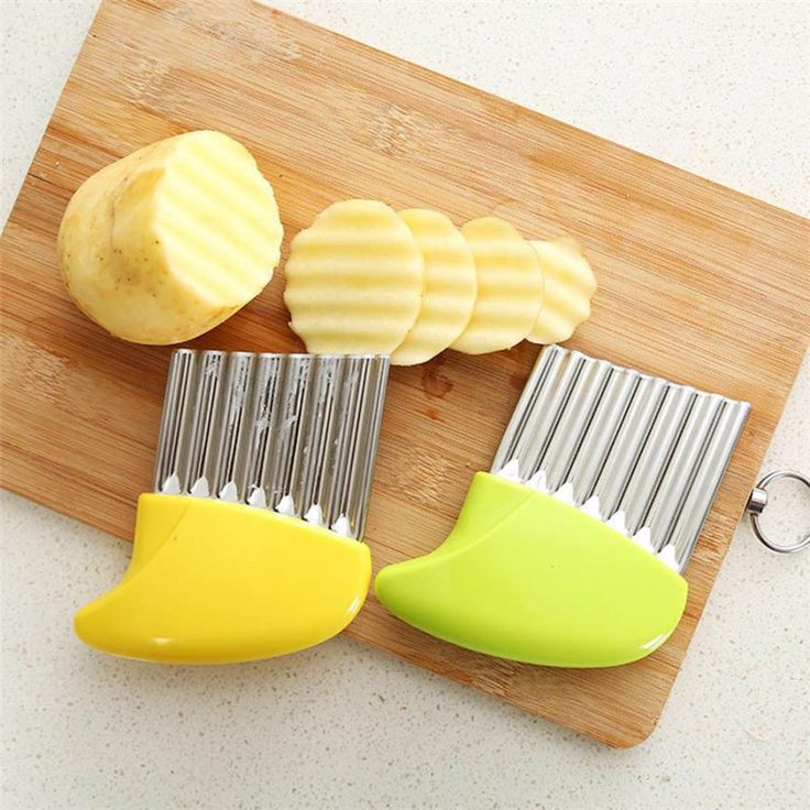 Healthy 2017 Crinkle Cut Potato Chip Cutter With Wavy Blade French Fry Cutter  #Affiliate