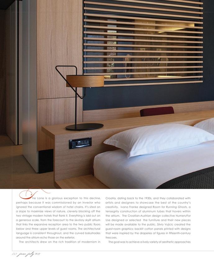integrated desk behind bed