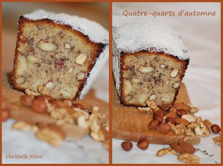 Quatre-quarts d'automne aux pommes reinette et fruits secs
