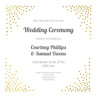 Corner Sprays printable invitation template. Customize, add text and photos.  Print, download, send online or order printed!