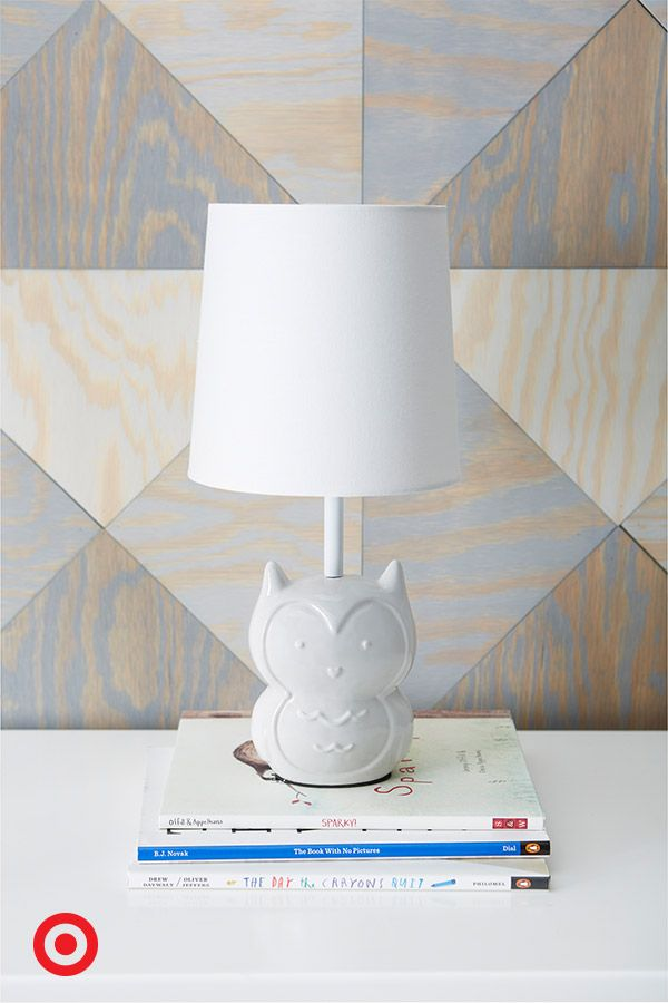 This sweet white owl table lamp is a perfect light for Baby's nursery. It will provide a soft glow as you read a story or rock your little one to sleep. Plus, this little bird adds a nice ambiance to most decor.