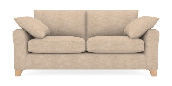 Buy Alexis Medium Sofa (3 Seats) Belgian Soft Twill Dark Natural Low Tapered - Light from the Next UK online shop