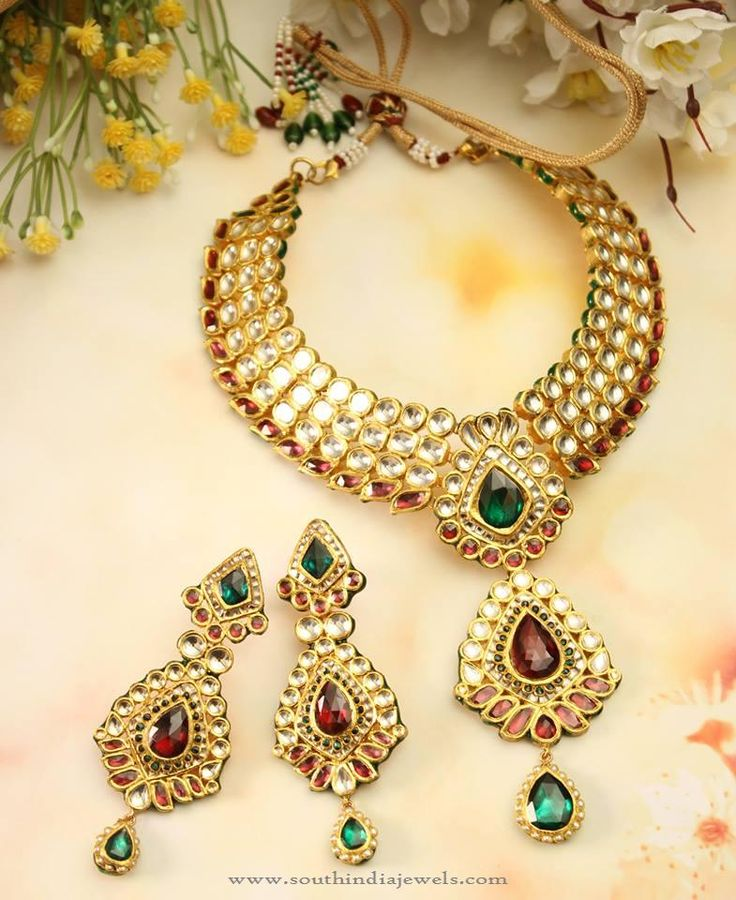 1105 best Kundan Jewellery polki diamond images on Pinterest