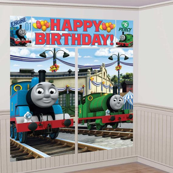 Thomas and friends wall decoration kit by PARTYSANDSTUFF on Etsy