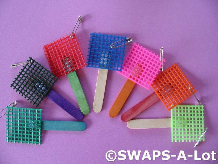 Fly Swatter SWAPS. This would make a cute neckerchief slide for cubs. Could even glue a plastic fly on it.