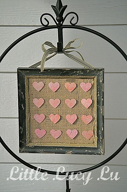 Sweet & Simple Valentine Decor: Burlap & Hearts