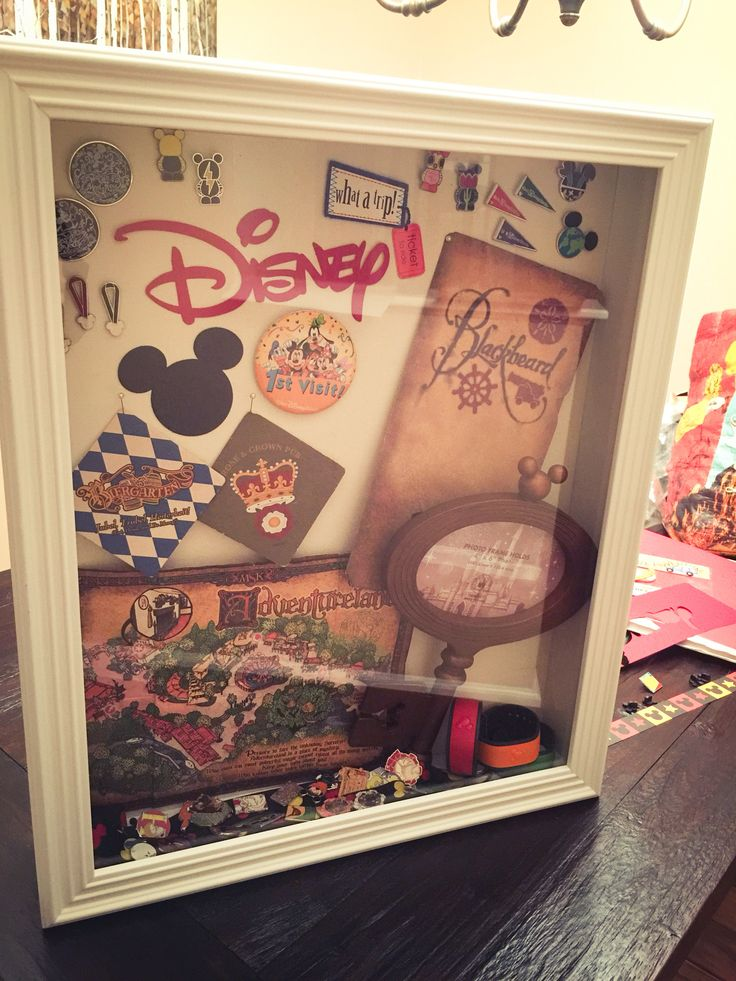 My Disney shadow box from our trip last month. I just need to add our photo & it's done!