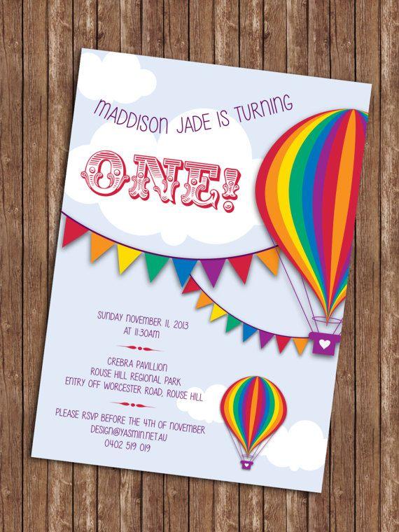Invitación de cumpleaños de globo de aire caliente por YasminHall