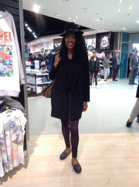 BERENICE Chapeau -  ZARA Pantalon - STEVE MADDEN Ballerines #women #mode #look #streetstyle http://www.moodlook.com/look/2014-03-28-france-paris-1