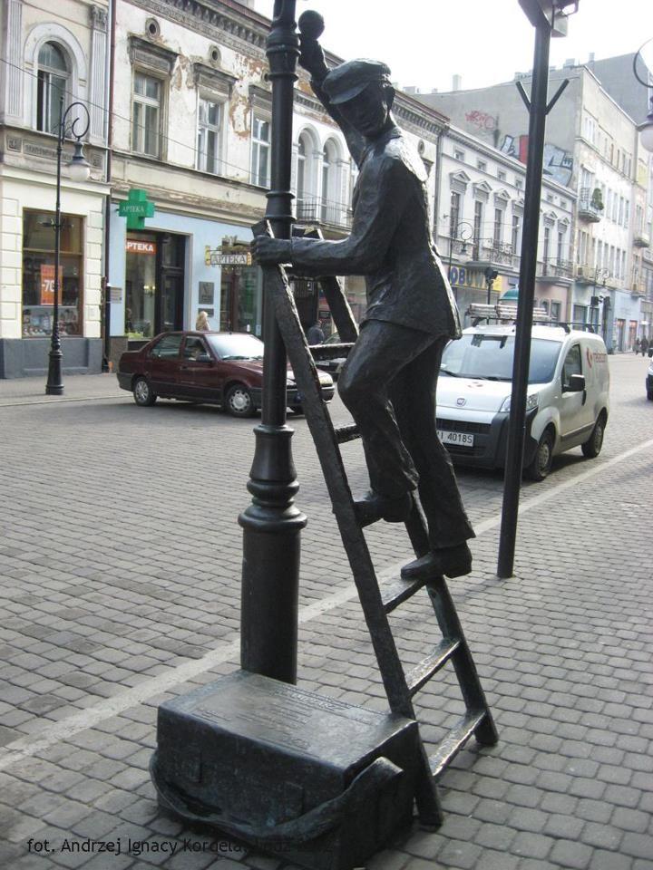 Piotrkowska street Łódź-Poland