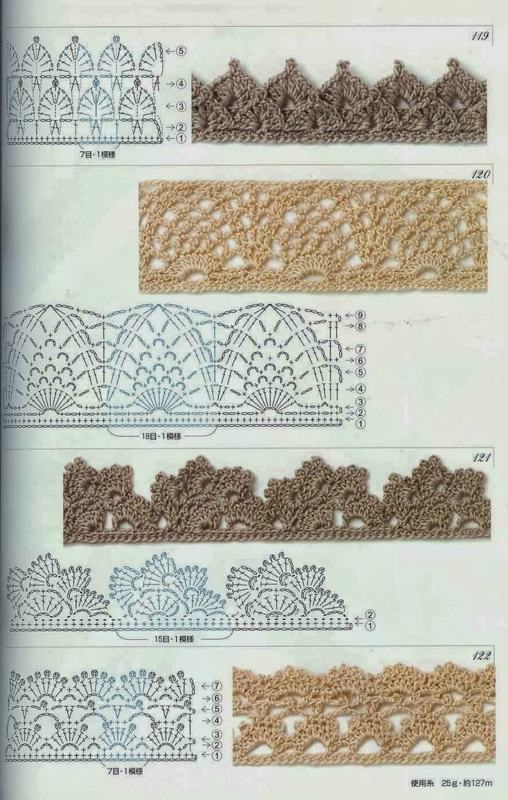 Pineapple shell lace border