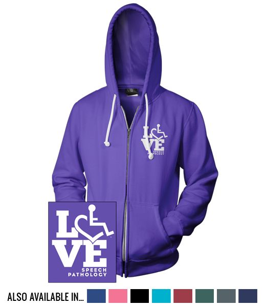 Pictures of LOVE Speech Pathology Hooded Zip-Up