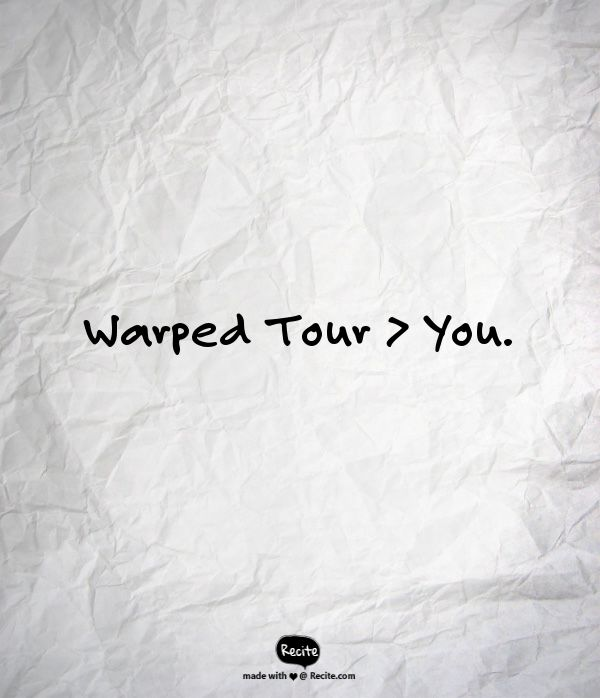 message me if you plan to go to Warped. - Elizabeth