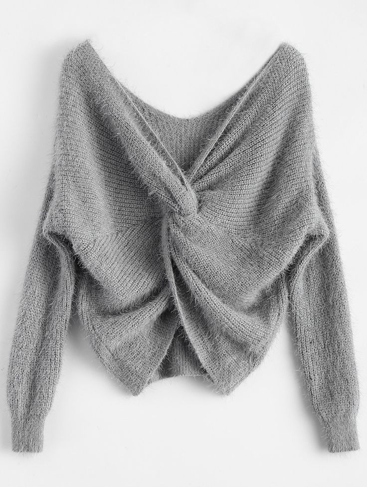 GAMISS - Twisted Fluffy Chenille Sweater
