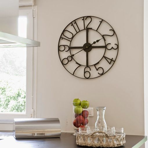 horloge murale m tal notre s lection decodesign d coration design int rieur am nagement. Black Bedroom Furniture Sets. Home Design Ideas