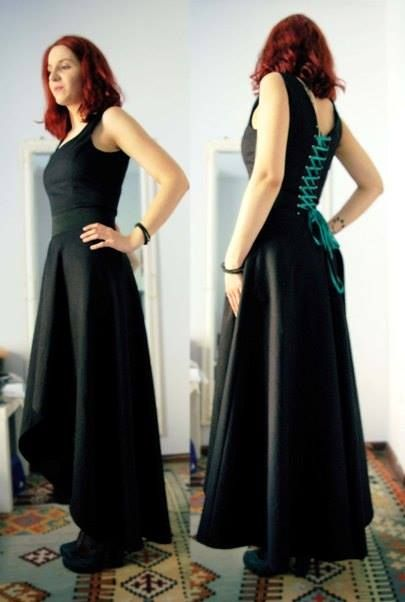 Custom-made asymmetrical dress