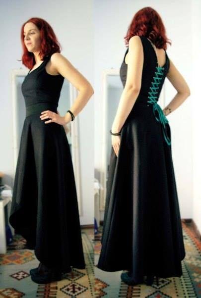 Custom-made asymmetrical dress