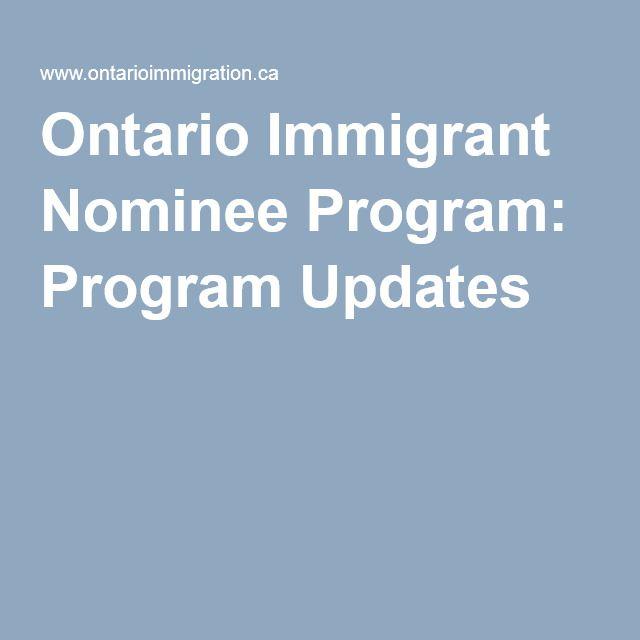 Ontario Immigrant Nominee Program: Program Updates