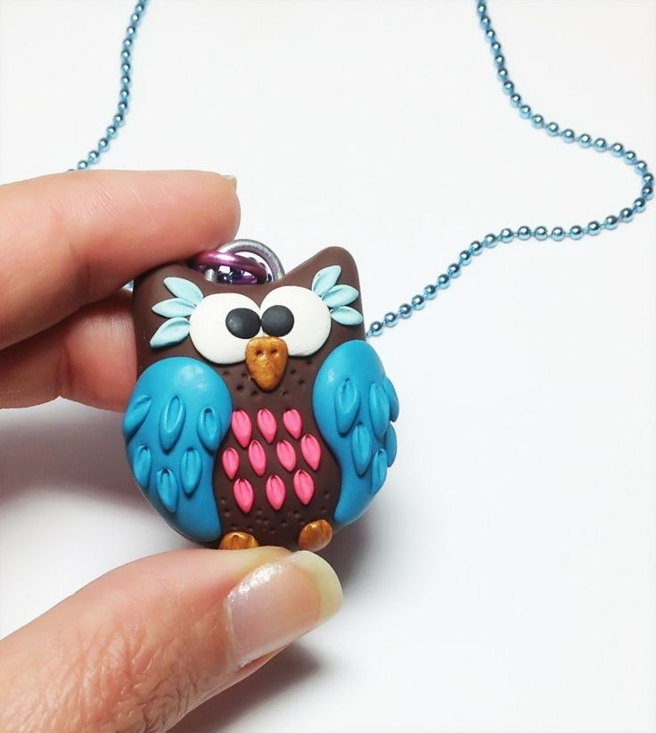 Polymer Clay Charms Ideas | ... polymer clay owls for charms, pendants, phone charms, zipper pulls and