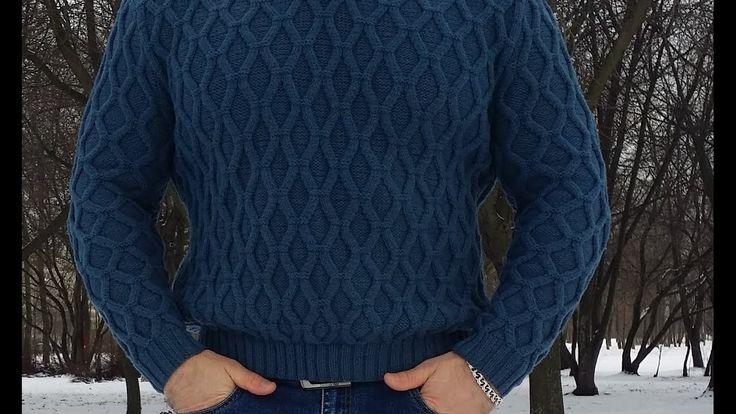 Мастер класс. Мужской пуловер. 2 часть.
