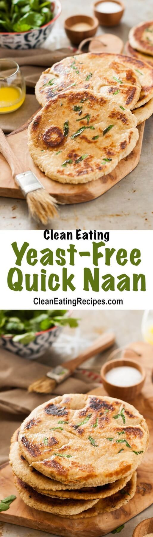 Yeast-Free, Quick Clean Eating Naan Bread Recipe Clean Eating Einkorn Flour Recipes