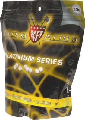 King Arms® Platinum Series 5000 0.20 gram 6mm Airsoft BBs