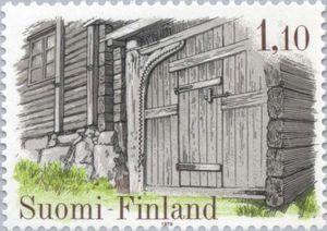 Issued in 1979, Suomi - Farmgate of Kanajärvi House, Kalvola