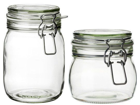 The 10 Best Kitchen Items To Buy at IKEA KORKEN from 2 - 4 euro each 1 litre capacity cool! Also lemonade bottle.