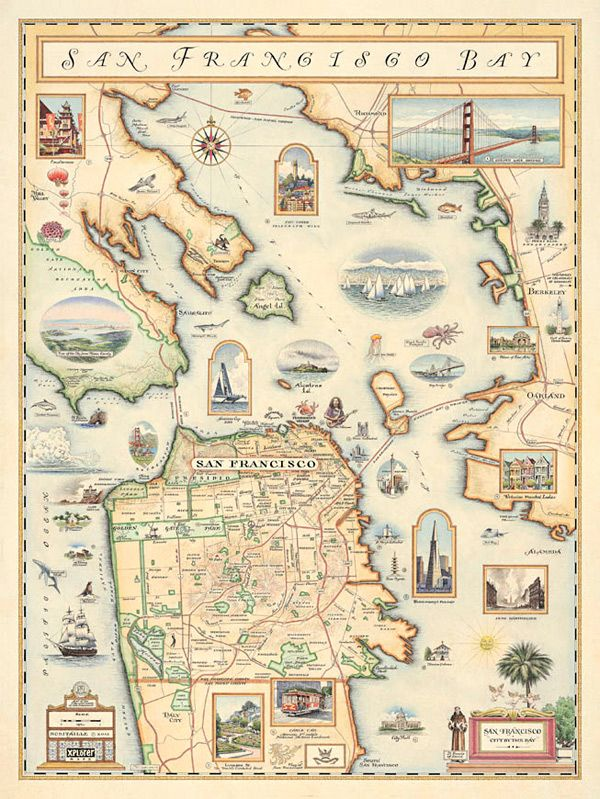 Chris Robitailles new map of San Francisco done in an old